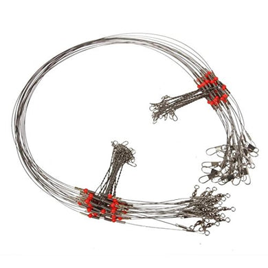 10 Pcs Fishing Wire Leader Trace With Snap ,Tuscom (2Pcs)