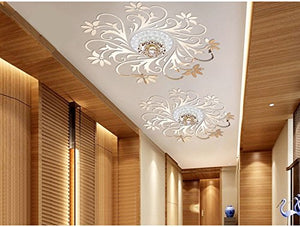 European Mirror Sticker For Ceilling Decoration, Diy Top Ceilling Mirror Wall Sticker , Top Lighting The Ceiling Chandelier Around Decorative Mirror Frame Sticker