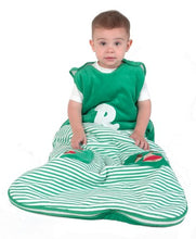 Load image into Gallery viewer, Limited Time Offer! The Dream Bag Baby Sleeping Bag Velour Reindeer 6-18 Months 2.5 Tog - Green