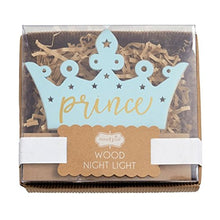 Load image into Gallery viewer, Mud Pie Prince Crown Wood Night Light, Blue