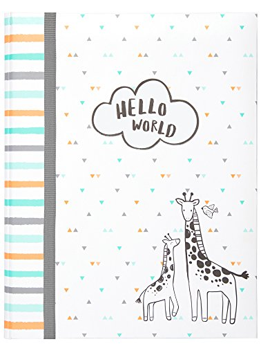 Carter'S Hello World Animal Themed Bound Baby Memory Book, 64 Pages, 9  W X 11.125  H