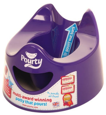 Pourty Easy-To-Pour Potty, Purple By Pourty