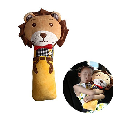 Car Seat Strap Shoulder Pads Covers For Kids Child - Safety Belt Pillow Lion