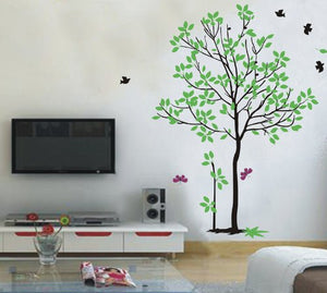 Pop Decors Removable Vinyl Art Wall Decals Mural For Nursery Room, Spring Tree