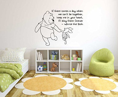 Winnie The Pooh Theme- Baby Room Wall Decal- Decal For Baby'S Room- Quote Mural Decal (Wide 35 X 35 Height)