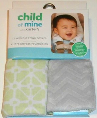 Child Of Mine Green And Gray Reversible Strap Covers