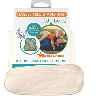 Tidy Tots Diapers Hassle Free 4-Layer Organic Hemp Booster O/S