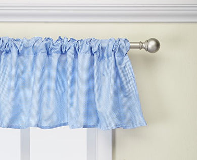 Babydoll Gingham Window Valance, Blue