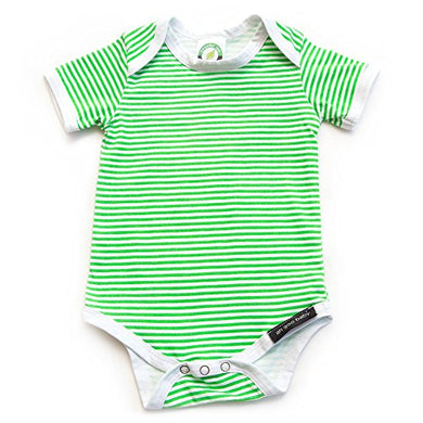 Ah Goo Baby Lollipop Onesie One Piece Bodysuit, 100% Organic Cotton, Green