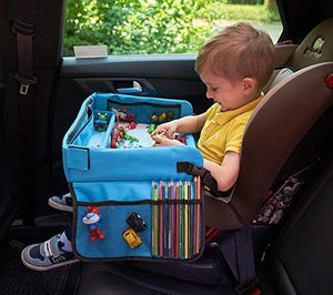 Kids Travel Tray  Activity, Snack, Play Tray &Amp; Organizer For Car Seat, Stroller Or Airplane Traveling  Keeps Children Entertained  Portable And Foldable + Free Bag &Amp; E-Book By Kbt