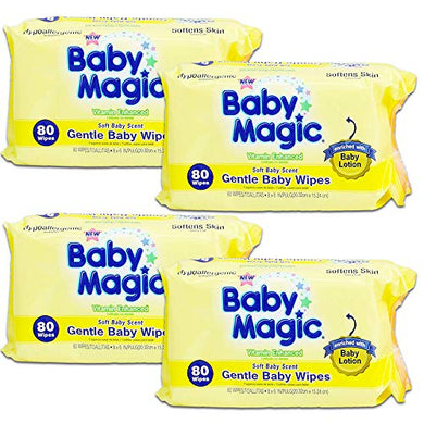 Baby Magic Gentle Baby Wipes Hypoallergenic Multi-(320 Wipes)