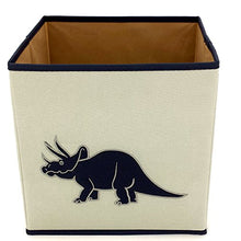 Load image into Gallery viewer, Dinosaur Cube Storage Bins Toy Organizers Trex Triceratops - 3 Pieces
