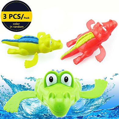 Sealive Wind Up Crocodile Bathtub Pool Float Toys For Baby Girls Boys,Babies Safety Clockwork Small Swimming Bath Tub Kids Educational Toys Plastic Water Funny Animal Play Set Best For Bathroom