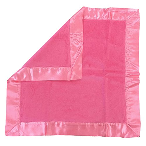 One Grace Place Simplicity Hot Pink Binky Blanket, Hot Pink And Pink