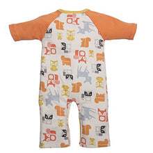 Load image into Gallery viewer, C.R. Gibson Dear One Asymmetrical Sleep And Play Set, Fits Sizes 3-6 Months, By Baby Dumpling - Orange Foxes