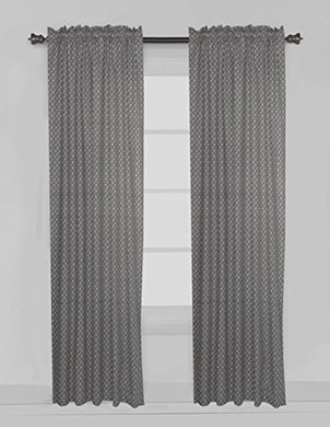 Bacati Arrows Curtain Panel, Grey