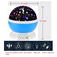 Load image into Gallery viewer, 360 Degree Rotating Galaxy Led Night Lighting Lamp - Color Changing Light Up Your Bedroom With This Moon, Star,Sky Romantic Led Nightlight Projector, Best Christmas Gift For Kids Relaxing Sleeping Aid