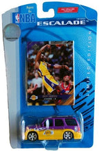 Load image into Gallery viewer, Lakers Nba Kobe Bryant Escalade 1:64 Scale Die Cast Collectible Car With Collectible Card By Upper Deck