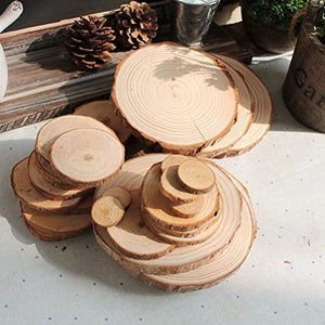 Pixnor 30Pcs Slices For Diy Crafts Wedding Decor 6-8Cm