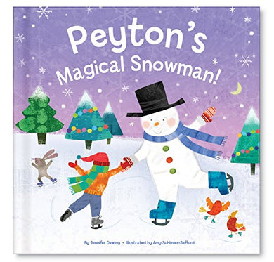 Magic Of The Holiday Season Celebrating Uniqueness Snowman Personalized Custom Name Storybook For Children Girls Boys