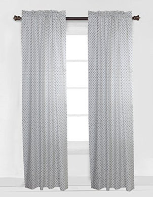 Bacati Arrows Curtain Panel, White/Grey