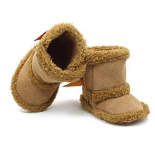 Load image into Gallery viewer, Itaar Baby Girls Boots Infant Toddler Crib Shoes Winter Warm Booties Adorable Bow Design Soft Sole Strap Closure