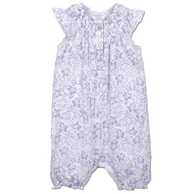 Feather Baby Girls Clothes Pima Cotton Angel Sleeve One-Piece Shortie Sunsuit Bubble Baby Romper