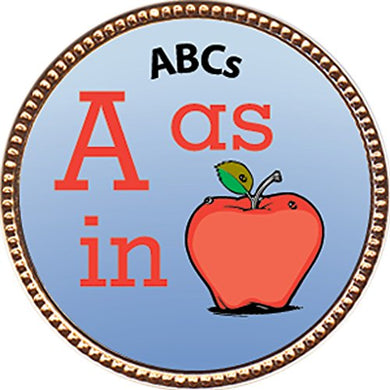 Abcs Award, 1 Inch Dia Gold Pin  Scholarship Studies Collection  By Keepsake Awards