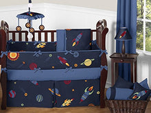 Load image into Gallery viewer, Fitted Crib Sheet For Space Galaxy Baby/Toddler Bedding Set Collection - Light Blue