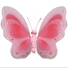 Load image into Gallery viewer, Hanging Butterfly 13 Large Pink Painted Nylon Butterflies Decorations Decorate Baby Nursery Bedroom Girls Room Ceiling Wall Decor Wedding Birthday Party Baby Shower Bathroom Kids Childrens 3D Art Diy