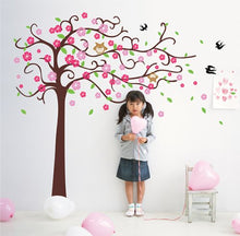 Load image into Gallery viewer, Pop Decors Removable Vinyl Art Wall Decals Mural For Nursery Room, Cute Flower Tree With Cute Owl