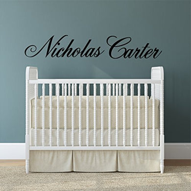 Boys Nursery Personalized Custom Name Vinyl Wall Art Decal Sticker 28  W, Boy Name Decal, Boys Name, Nursery Name, Boys Name Decor Wall Decals, Boy'S Bedroom Decor, Plus Free 12  Hello Door Decal