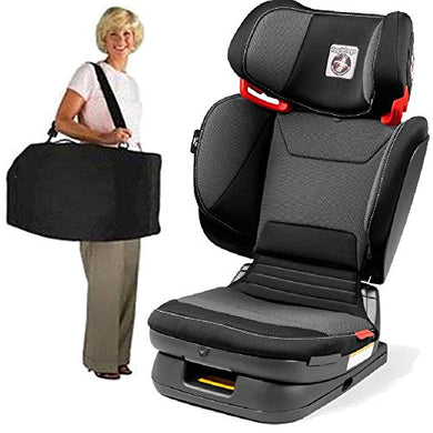 Peg Perego -Cary Viaggio Flex 120 Child Booster Seat With Carrying Bag - Crystal Black