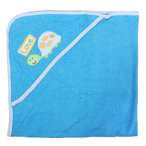 Tadpoles Newborn Baby Hooded Colorful Bath Towel  Embroidered Turtle Design