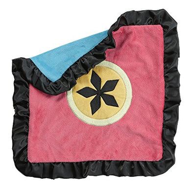 One Grace Place Magical Michayla Binky Blanket, Black, Pink And Turquoise