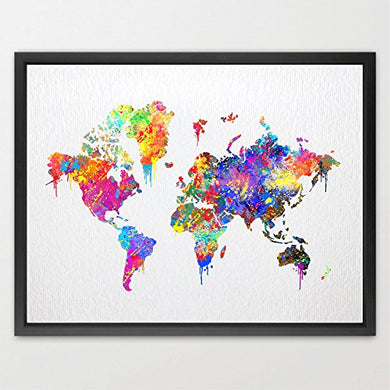 Dignovel Studios 8X10 World Map Poster Watercolor Print Wedding Gift Childrens Wall Art Kids Watercolor Print Home Decor Kids Art Wall Hanging Birthday Gift N087