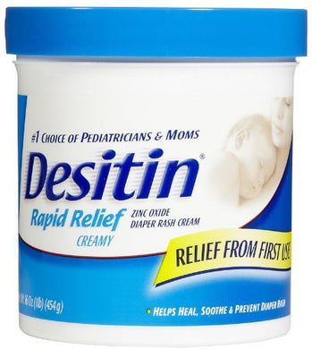 Desitin Rapid Relief Creamy Diaper Rash Cream - 16 Oz