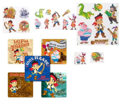 24 Disney Jake And The Never Land Pirates Sticker Sheets Party Accessory