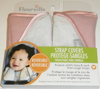 Fleurville Pink And White Reversible Strap Covers