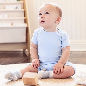 Boody Body Baby Ecowear T-Shirt - Soft Cooling Infant Tee Made From Natural Organic Bamboo - Soft Breathable Eco Fashion For Sensitive Skin - Sky Blue, 12-18 Months