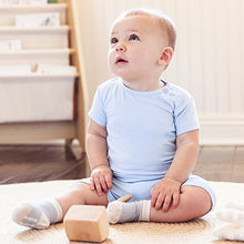 Load image into Gallery viewer, Boody Body Baby Ecowear T-Shirt - Soft Cooling Infant Tee Made From Natural Organic Bamboo - Soft Breathable Eco Fashion For Sensitive Skin - Chalk White, 6-12 Months