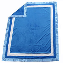 Load image into Gallery viewer, One Grace Place Simplicity Blue Medium Quilt, Blue, Light Blue, White
