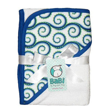 Blue My Mind Hooded Towel  White