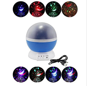 360 Degree Rotating Galaxy Led Night Lighting Lamp - Color Changing Light Up Your Bedroom With This Moon, Star,Sky Romantic Led Nightlight Projector, Best Christmas Gift For Kids Relaxing Sleeping Aid