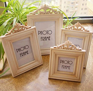 Aimeart Wooden Picture Frame Set, 4-Piece Set Of 4 Various Sizes Vintage White