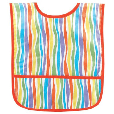 Am Pm Kids! Laminated Bib, Stripes, Small