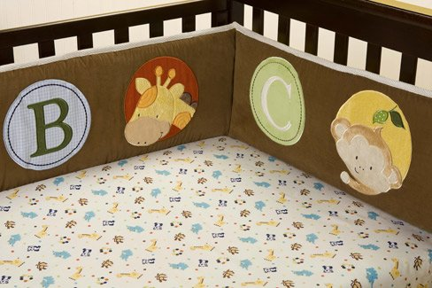 Kids Line Fitted Crib Sheet: Peek-A-Boo Pals