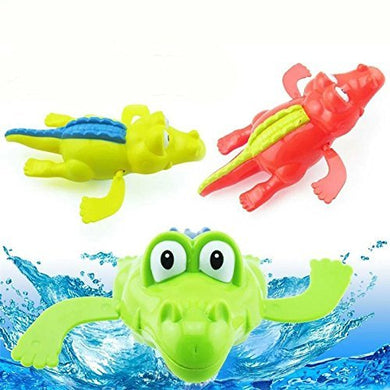 Rainbowkids Baby Bath Swimming Toy Crocodile Wind Up Clockwork Play Swimming Alligator For Kid Educational Toys Infant Baby Gift ,1Pc For 3-48 Months Baby Using