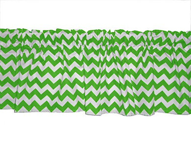 Baby Doll Bedding Chevron Window Valance, Green