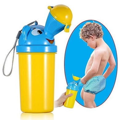 V.One Portable Baby Child Potty Urinal Emergency Toilet For Camping Car Travel And Kid Potty Pee Training (Yellow For Boy)